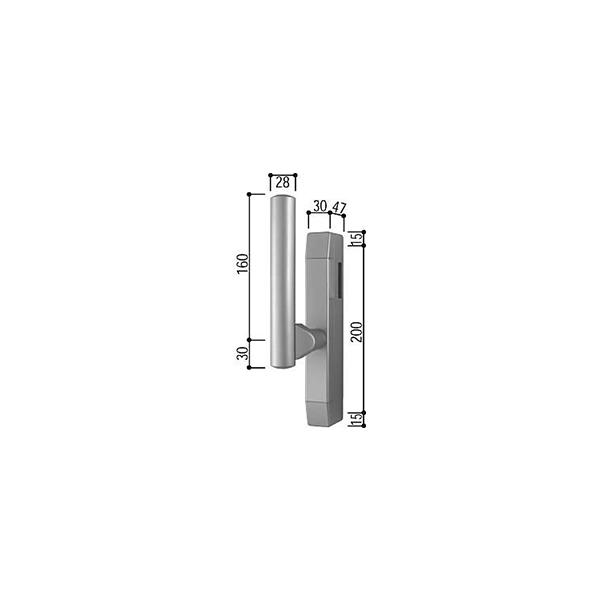 サポートハンドル(HH-4K-11277)【YKK】【YKKサッシ】【窓】【引違い窓】【引き違い窓】【取手】【大型ハンドル】【船底引手】【引き手】