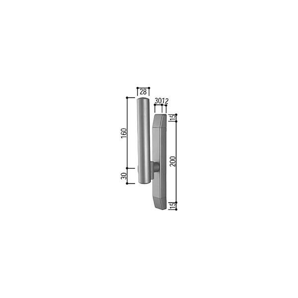 サポートハンドル(HH-4K-11279)【YKK】【YKKサッシ】【窓】【引違い窓】【引き違い窓】【取手】【大型ハンドル】【船底引手】【引き手】