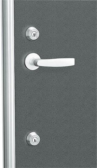 レバーハンドル錠(シリンダー無)セット(HH-4K-11413)【玄関ドア】【店舗ドア】【勝手口ドア】【通風ドア】【レバーハンドル】【ハンドル】【錠】【鍵】【箱錠】【交換】