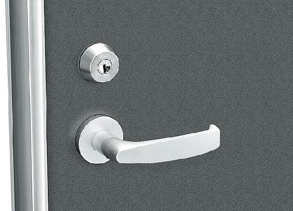 レバーハンドル錠(シリンダー無)セット(HH-4K-11417)【玄関ドア】【店舗ドア】【勝手口ドア】【通風ドア】【レバーハンドル】【ハンドル】【錠】【鍵】【箱錠】【交換】