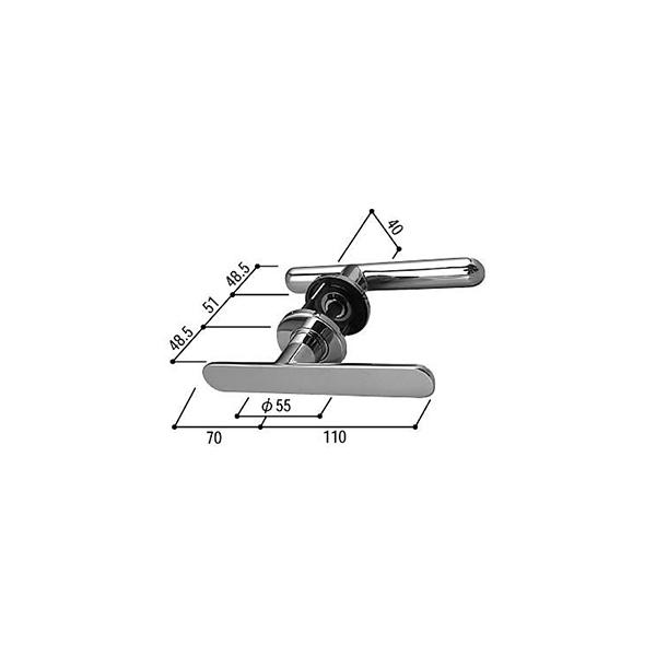 レバーハンドル・台座・サムターン(HH-K-15164)【レバー型ハンドル】【ドア用ハンドル】【YKKドア】【ドア取手】【ドアハンドル】