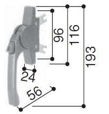 グレモンハンドル(HH3K-17199)【YKK】【テラス囲い】【7TG-2】【サンフィール】【サッシ】【引戸】【引き戸】