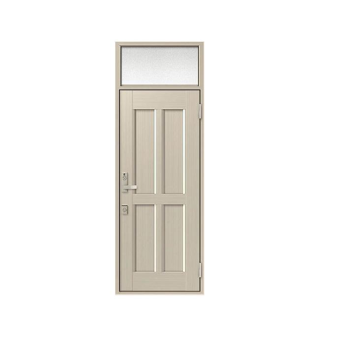 LIXIL 玄関ドア クリエラR 片開きランマ付 半外付型:11型[幅818mm×高2330mm]