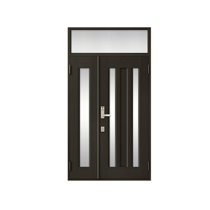 LIXIL 玄関ドア クリエラR 親子ランマ付 半外付型:18型[幅1240mm×高2330mm]