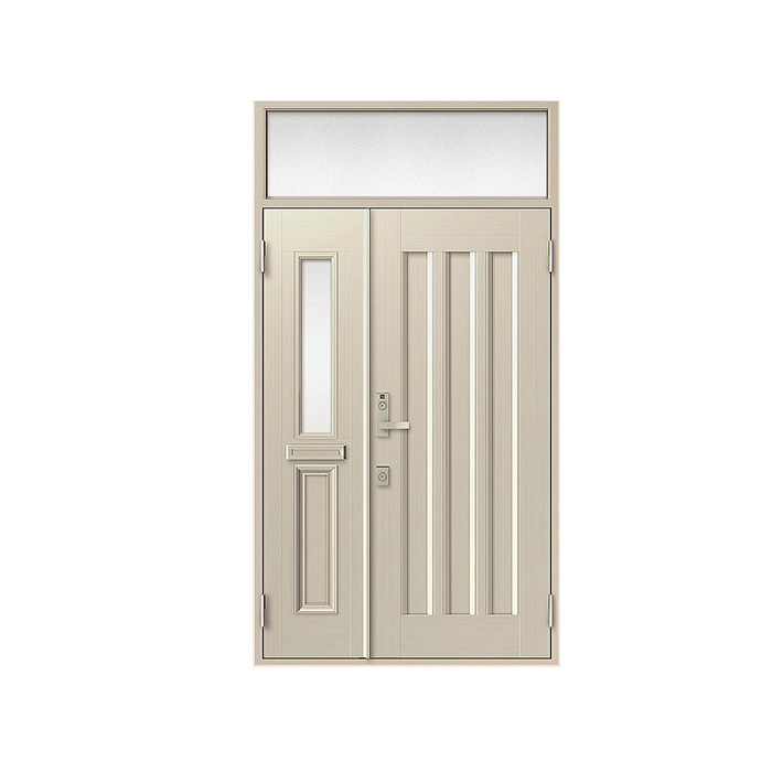 【セール 登場から人気沸騰】 LIXIL クリエラR 内付型:19型[幅1240mm×高2330mm]:ノース&ウエスト 玄関ドア 親子ランマ付-木材・建築資材・設備