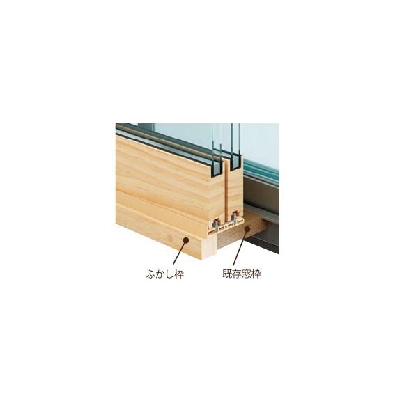 内窓MOKUサッシオプションふかし枠30mm[3方]:[幅300〜500mm×高1001〜1400mm]