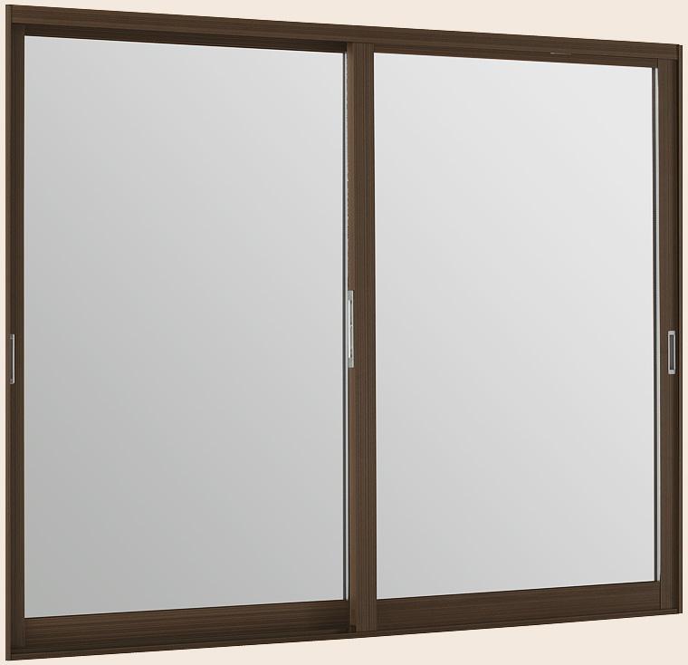 LIXILインプラス ウッド 引き違い窓 2枚建[複層ガラス] 和紙調3mm+透明3mm格子入ガラス:[幅1001~1500mm×高1001~1400mm]【トステム】【リクシル】【LIXIL】【引違い】【内窓】【二重窓】【樹脂製内窓】【二重サッシ】【DIY】【リフォーム】【省エネ】