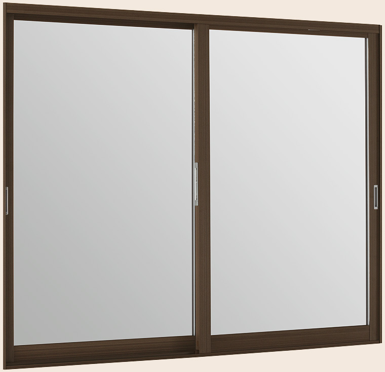 LIXILインプラス ウッド 引き違い窓 2枚建[複層ガラス] 透明3mm+透明3mm格子入ガラス:[幅1001~1500mm×高1001~1400mm]【トステム】【リクシル】【LIXIL】【引違い】【内窓】【二重窓】【樹脂製内窓】【二重サッシ】【DIY】【リフォーム】【省エネ】