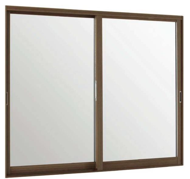 LIXILインプラス ウッド 引き違い窓 2枚建[単板ガラス] 3mm透明組子付ガラス:[幅1501~2000mm×高601~1000mm]【トステム】【リクシル】【LIXIL】【引違い】【内窓】【二重窓】【樹脂製内窓】【二重サッシ】【DIY】【リフォーム】【省エネ】