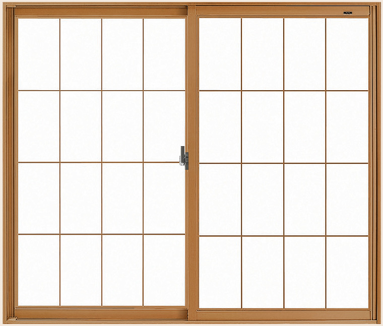 LIXILインプラス 引き違い窓 2枚建[単板ガラス] 和紙調3mm組子付ガラス:[幅1001~1500mm×高1001~1400mm]【トステム】【リクシル】【LIXIL】【引違い】【内窓】【二重窓】【樹脂製内窓】【二重サッシ】