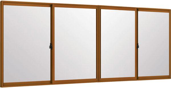 LIXILインプラス 引き違い窓 4枚建[複層ガラス] 透明3mm+断熱クリア3mmガラス:[幅4001~5000mm×高601~1000mm]【トステム】【リクシル】【LIXIL】【引違い】【内窓】【二重窓】【樹脂製内窓】【二重サッシ】