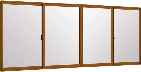 LIXILインプラス 引き違い窓 4枚建[複層ガラス] 透明3mm+和紙調3mm組子無ガラス:[幅3001~4000mm×高1001~1400mm]【トステム】【リクシル】【LIXIL】【引違い】【内窓】【二重窓】【樹脂製内窓】【二重サッシ】