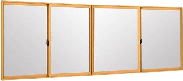 LIXILインプラス 引き違い窓 4枚建[単板ガラス] 和紙調3mm組子無ガラス:[幅1500~2000mm×高601~1000mm]【トステム】【リクシル】【LIXIL】【引違い】【内窓】【二重窓】【樹脂製内窓】【二重サッシ】
