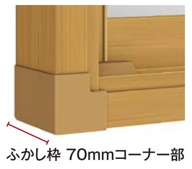 トステムインプラス オプション ふかし枠 70mm3方:[幅3001~4000mm×高1301~1400mm]