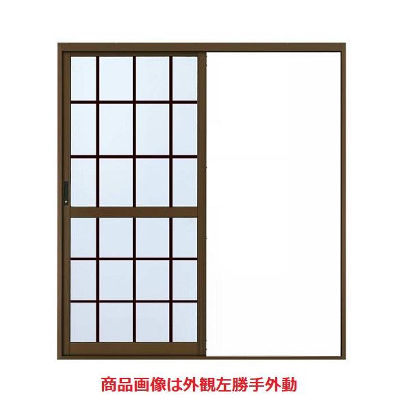 YKKAP勝手口 汎用片引き戸2HH 内付型 : 税込 幅1900mm×高1817mm 格子付ガラス 流行のアイテム
