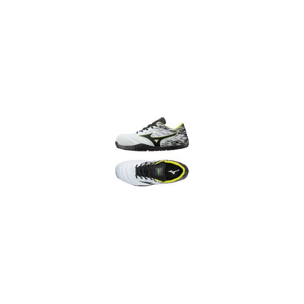 リフォーム用品 道具・工具 電動ツール ワークシューズ:ミズノ オールマイティTD11L ホワイト×ブラック×イエロー 27.0cm