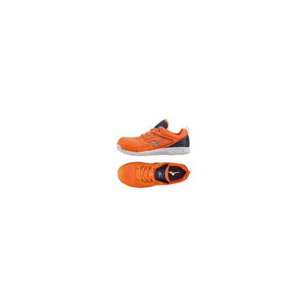 リフォーム用品 道具・工具 電動ツール ワークシューズ:ミズノ オールマイティVS オレンジ×ネイビー×シルバー 27.0cm