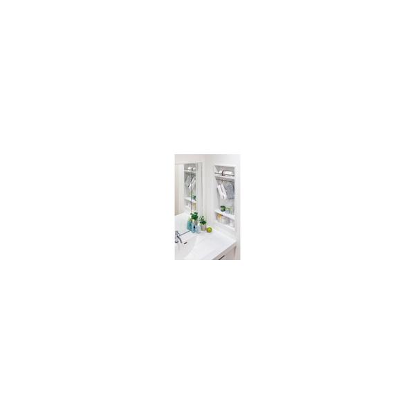 リフォーム用品 水まわり 洗面所 洗面所・洗濯機まわり:南海プライウッド 壁厚ニッチ収納サニタ洗面収納ボックス Aタイプ