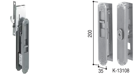 戸先・召合せ 内外締り錠セット(HH-J-0422U5)