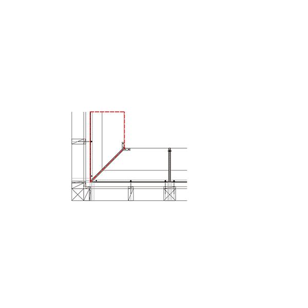 YKKAP窓まわり ひさし コンバイザー[入隅コーナー納まりセット] ベーシックスタイル[外観右側] 出幅600mm:先付・後付兼用[長さ1600mm]