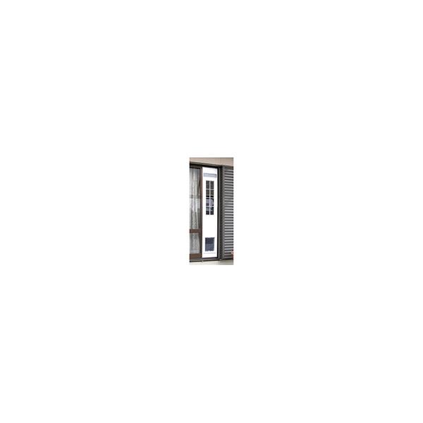 リフォーム用品 ペット用品 ペットドア サッシ用:サカイペット産業 フリーペットドアDX 木目 幅260X高さ1750~1950(mm)