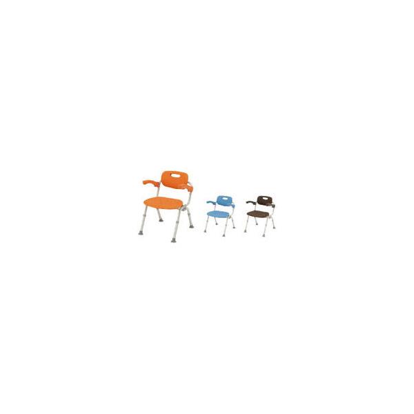 リフォーム用品 バリアフリー 浴室・洗面所 入浴介護用品:パナソニック シャワーチェア[ユクリア] ミドルSPおりたたみN オレンジ