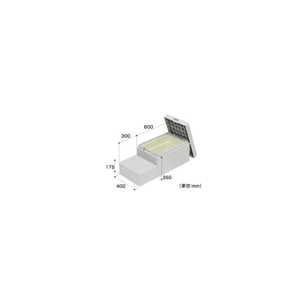 リフォーム用品 建築資材 外まわり 屋外用ステップ・柱受金物:Joto ハウスステップ6040C2 収納庫なし