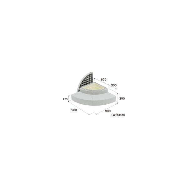 リフォーム用品 建築資材 外まわり 屋外用ステップ・柱受金物:Joto ハウスステップRライプ 収納庫付き レッドブラウン