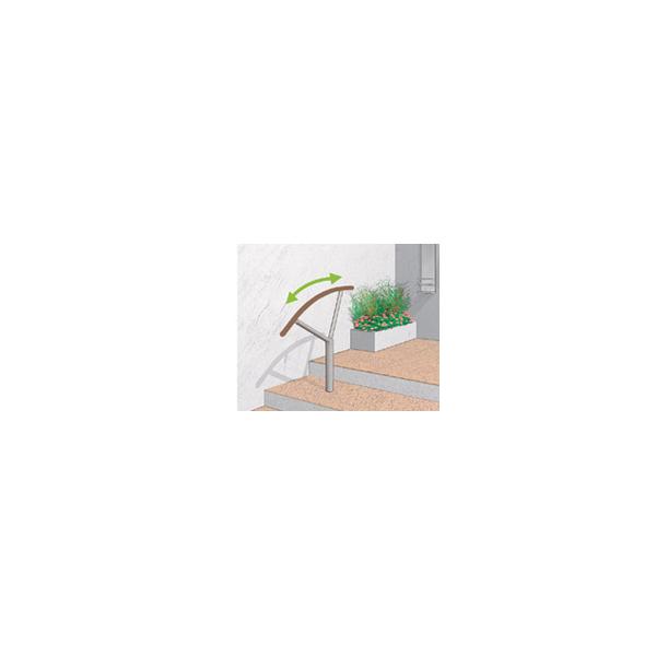 リフォーム用品 バリアフリー 屋外用手すり アプローチEレール:四国化成 セイフティビーム アーチユニット ベースプレート式