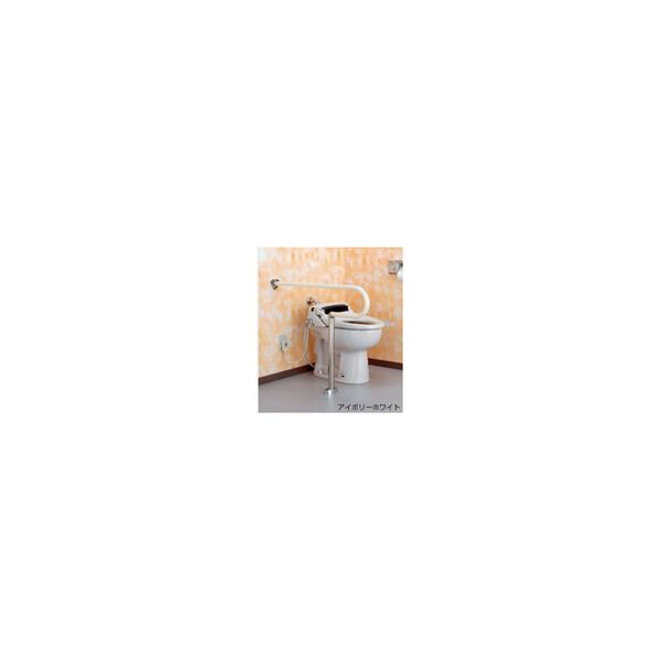 リフォーム用品 バリアフリー トイレ用手すり トイレ用L型バンド:ナカ工業 オーバル補助手すり P-1 バーチ