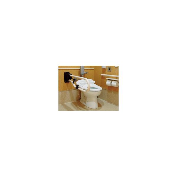 リフォーム用品 バリアフリー トイレ用手すり トイレ用L型バンド:ナカ工業 オーバル補助手すりCU(D=850) バーチ