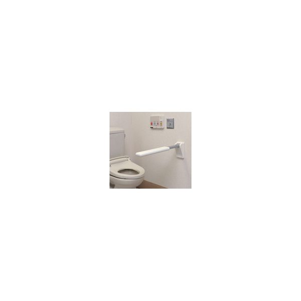 リフォーム用品 バリアフリー トイレ用手すり 肘置手すり:ナカ工業 レストハンドスレンダー フロントタイプSL-1 640mm