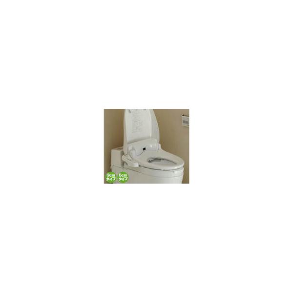 リフォーム用品 バリアフリー トイレ 腰掛・補高便座:パナソニック 温水洗浄便座付き補高便座 リモコンなし W365×D515×H50mm