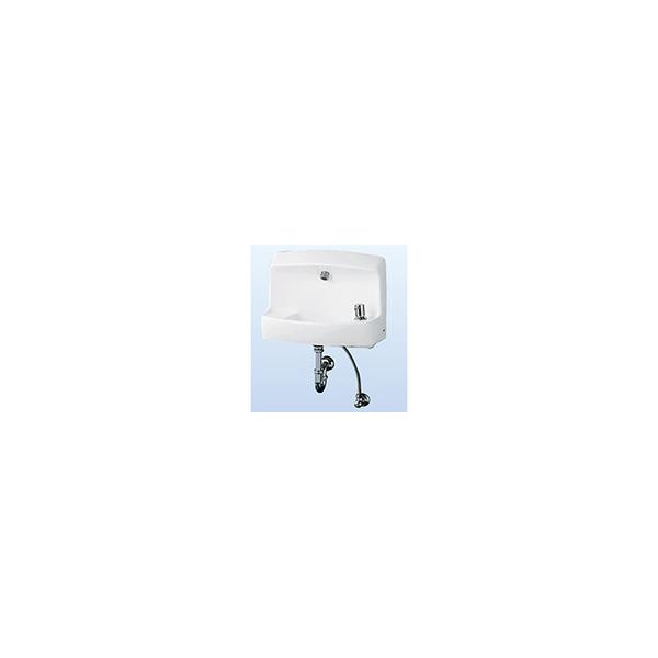 リフォーム用品 バリアフリー トイレ 腰掛・補高便座:TOTO 壁掛バック付手洗器