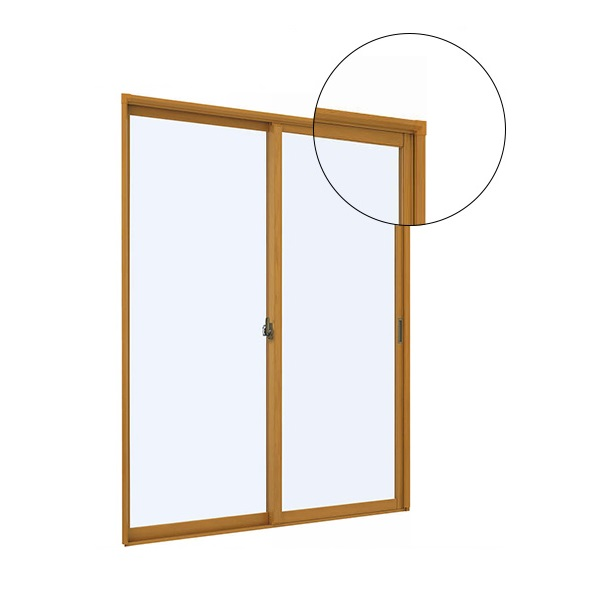 YKKAPプラマードUオプション引き違い窓用化粧額縁四方:[幅1901〜2000mm×高2401〜2450mm]