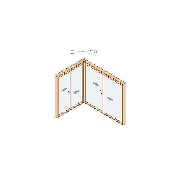 YKKAPプラマードU オプション 連窓方立 コーナー方立:[長さ1100mm]