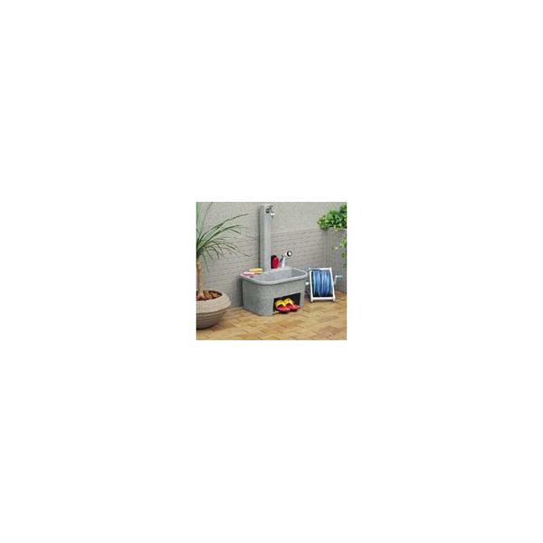 リフォーム用品 水まわり 屋外 流し・水栓柱:タキロンシーアイ 研ぎ出し流し 庭園600H型