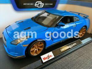 高い素材 送料無料 ホビー 模型車 車 レーシングカー カーモデルmaisto voiture gtr 118 modele scalenissan r35bleudiecast 5☆大好評