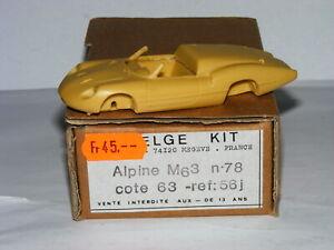 送料無料 ホビー 驚きの値段 模型車 期間限定特価品 車 レーシングカー アルパインルノーオーヴェルニュ#キットトロフィーjielge 56j alpine m63 dauvergne 143 renault 78 resine kit trophee 1963