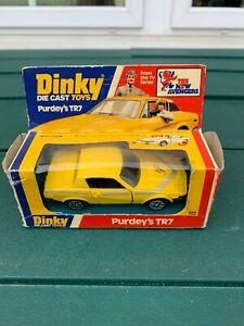送料無料 ホビー 模型車 車 現金特価 レーシングカー 早割クーポン イエローdinky toys purdeys 112 1978 tr7 jaune steed avengers