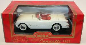 低価格化 送料無料 ホビー 模型車 車 レーシングカー モデルミラスケールシボレーmira echelle 118 corvetteblanc 9101 1953 modele voiture お歳暮 en metal chevrolet
