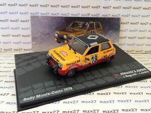 送料無料 高品質新品 ホビー 模型車 車 レーシングカー ラリールノーアルパインモンテカルロネットワークvoiture rallye renault 5 carlo altaya alpine monte 1978 jragnotti ixo 百貨店 143