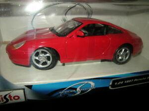 送料無料 ホビー 模型車 車 レーシングカー ポルシェボックスカット124 maisto 開催中 porsche coupe neuf 996 dans sa boite rougered 激安卸販売新品
