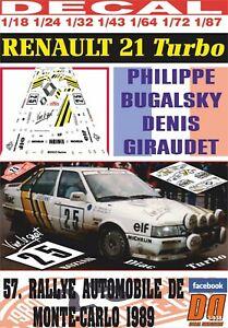 送料無料 ホビー 模型車 車 レーシングカー デカールルノーターボモンテカルロリタイアdecal renault 21 ご注文で当日配送 turbo montecarlo r 01 マート dnf 1989 pbugalski