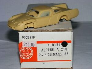送料無料 ホビー 模型車 車 レーシングカー ミニレーシングアルパインルノールマンキットmini racing 0185 alpine a210 mans le amp; 購買 kit metal renault resine 1968 贈呈 143