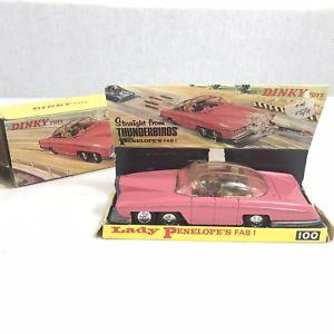 送料無料 ホビー 模型車 車 レーシングカー ビンテージレディペネロペローズボックスボックスvintage dinky no 100 penelopes boite endommage 国内送料無料 cret fab lady 1 af rose セール特価