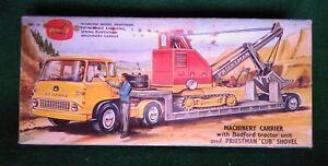 送料無料 ホビー 模型車 車 レーシングカー コーギートイボックスキャリアマシンcorgi toys cret 引き出物 ギフト プレゼント ご褒美 priestmam et pelle 27 machines transporteur