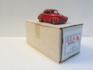 送料無料 ホビー 模型車 車 レーシングカー エンジンスタジオアメリカモデルアメリカカット143 moteur city design coupe 価格交渉OK送料無料 modeles main willys 1941 usa10 rouge 限定特価 usa studio
