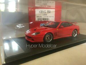 送料無料 ホビー ギフト 模型車 バイク レーシングカー フェラーリケーニッヒレッドbbr 143 全品最安値に挑戦 red ferrari koenig 1999 article 550 bbr215c
