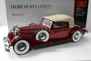 【送料無料】ホビー ·模型車·バイク レーシングカー ダークレッドレッド112 cmc horch 853 dark redred 1937c002